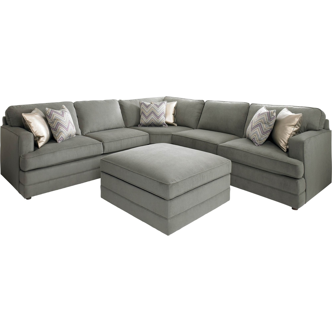 Bassett Dalton L Shaped Sectional Sofa With Ottoman Base House Within Bassett Sectional Sofa (#1 of 12)
