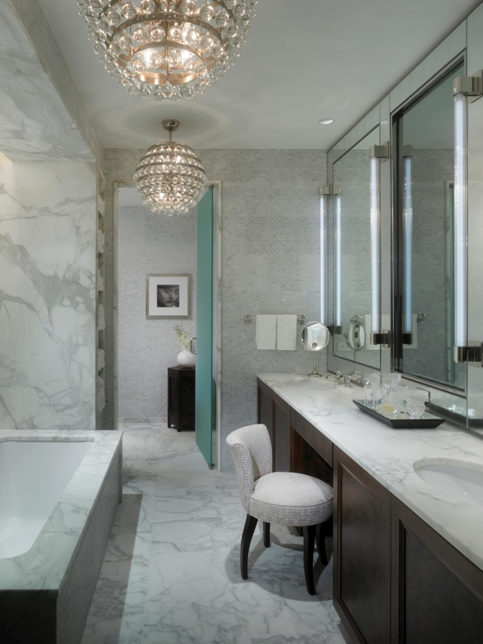 Bathroom Ideas Bathroom Chandeliers With White Chandeliers Colors Throughout Modern Bathroom Chandeliers (#4 of 12)