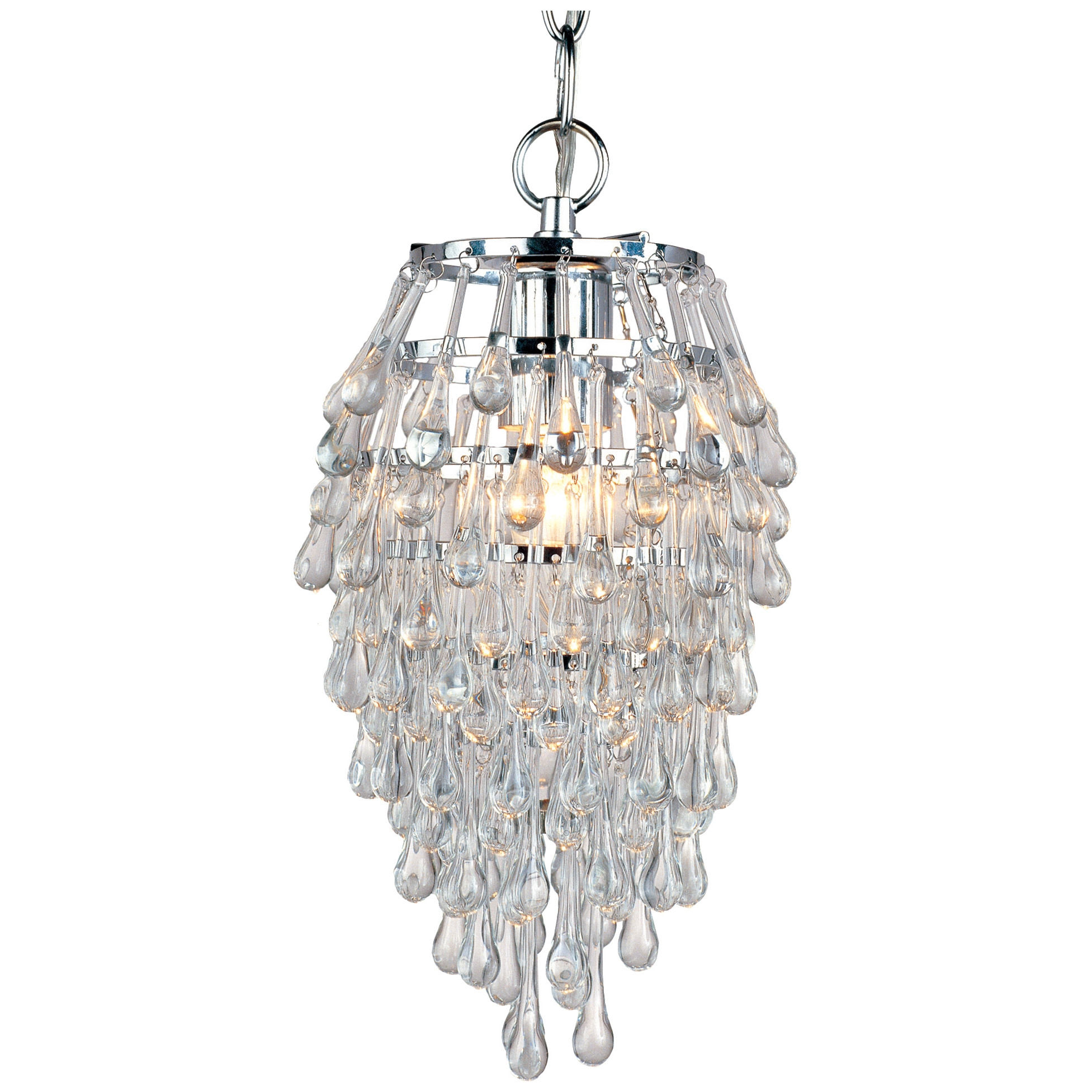 Popular Photo of Small Glass Chandeliers