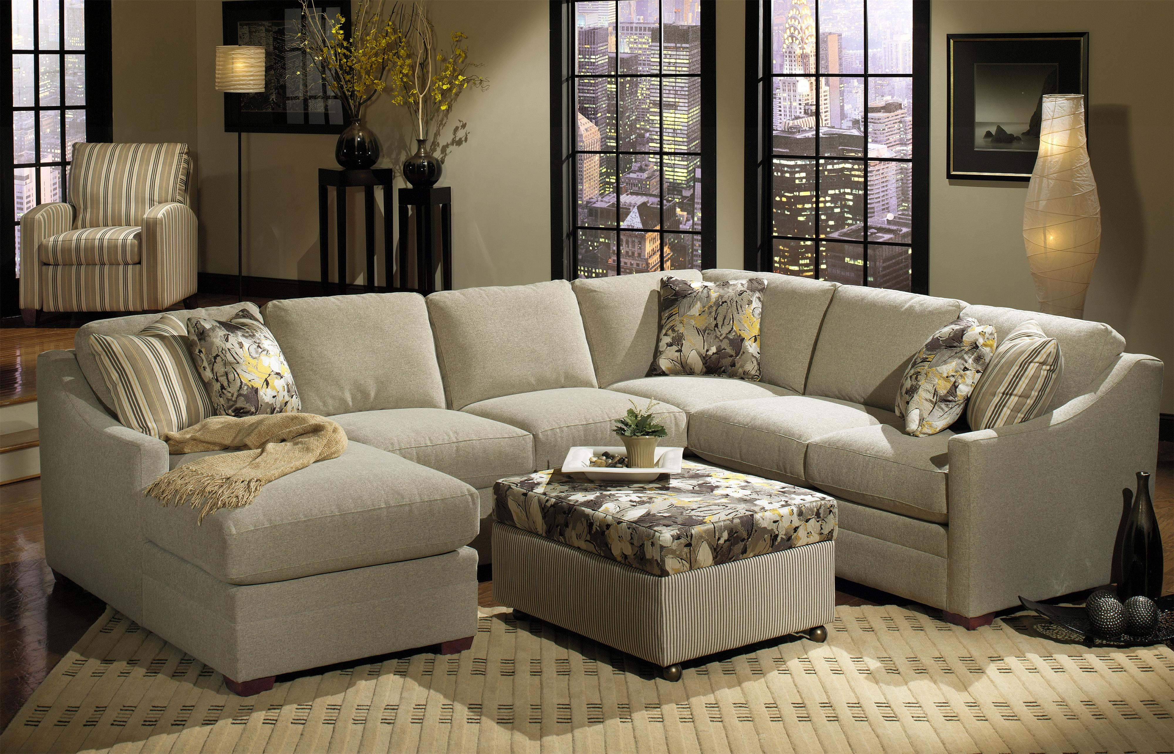Bcustomizableb 3 Piece Sectional With Raf Sofa W Return Inside Craftmaster Sectional Sofa (#3 of 12)