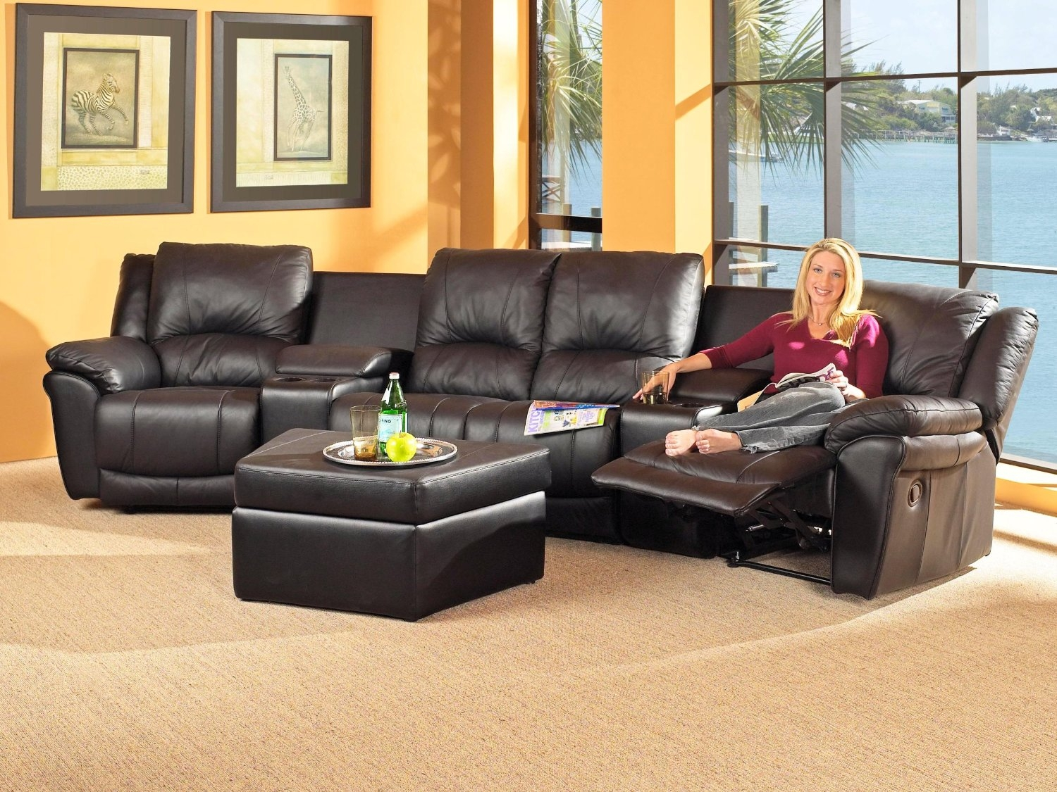 Beautiful Movie Theater Sectional Sofas 15 In 7 Seat Sectional Regarding 7 Seat Sectional Sofa (#5 of 12)