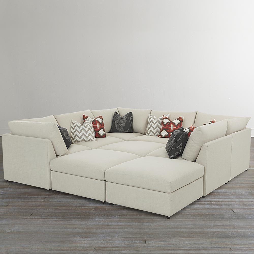 Beckham Upholstered Pit Sectional Living Room Bassett Furniture For Bassett Sofa Bed (#3 of 12)