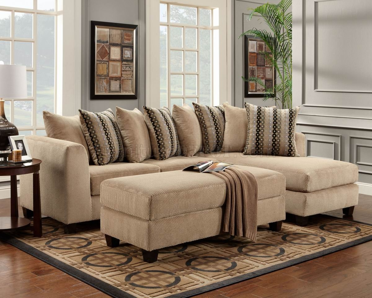 Beige Fabric Modern Elegant Sectional Sofa Woptional Ottoman With Elegant Sectional Sofas (#3 of 12)