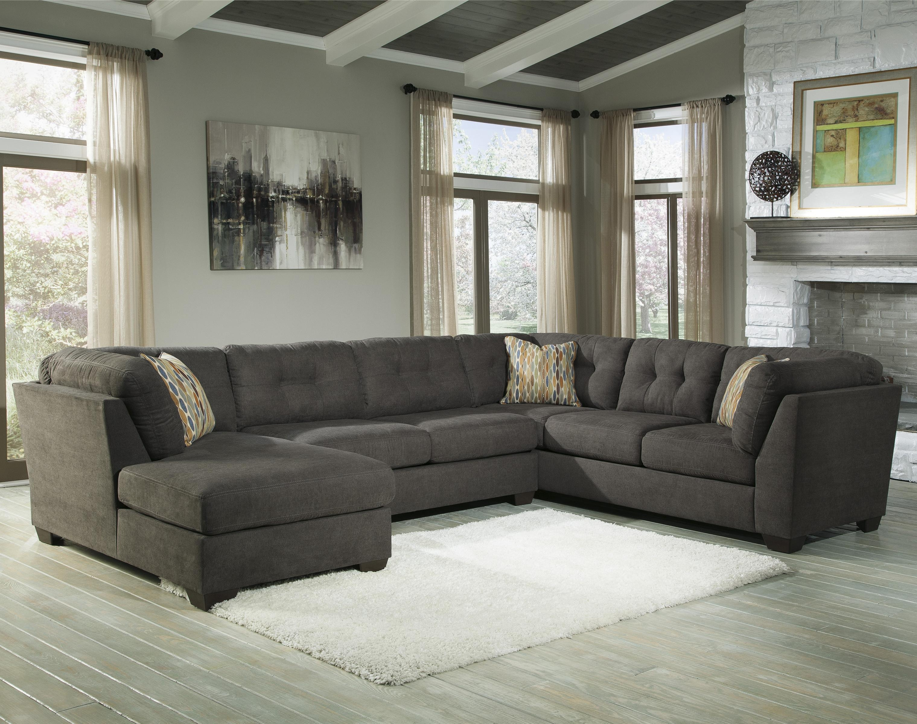 Benchcraft Delta City Steel 3 Piece Modular Sectional W Armless Throughout 3 Piece Sectional Sleeper Sofa (#2 of 12)