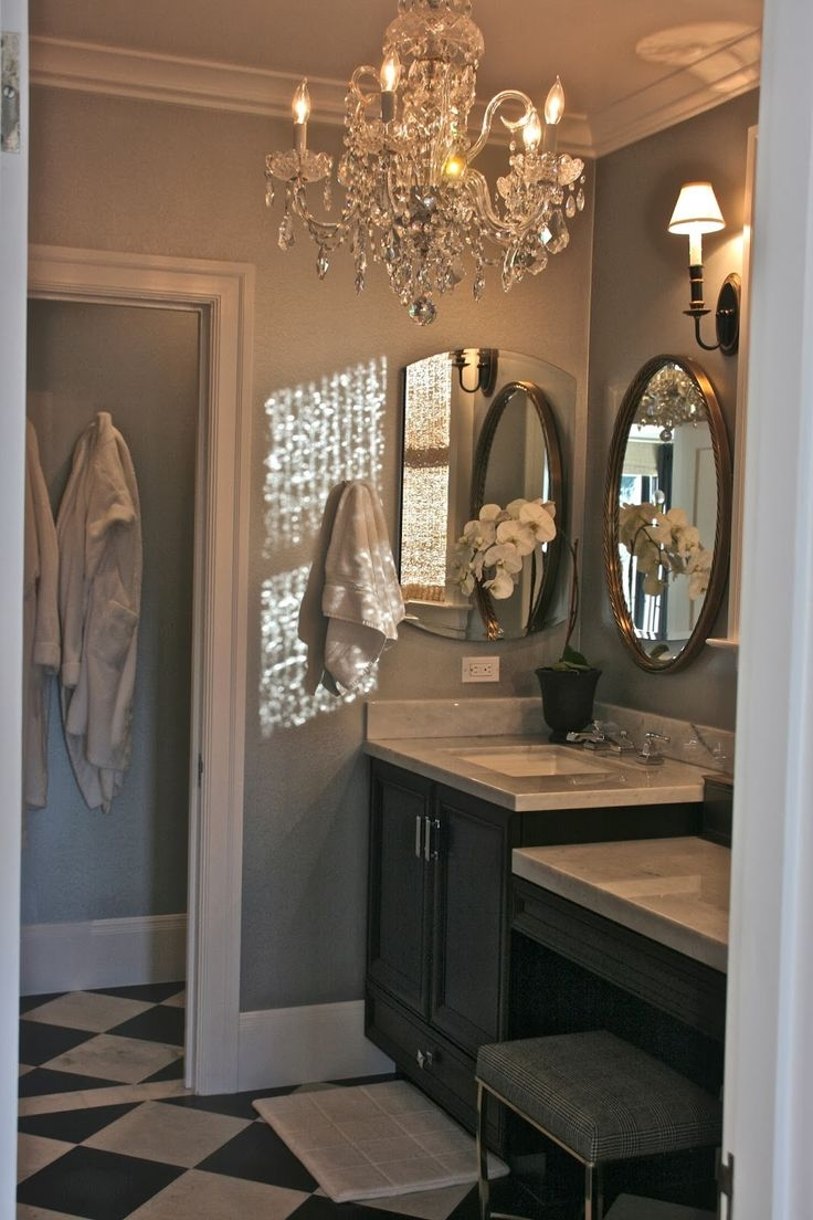 12 best ideas of crystal bathroom chandelier for Small chandeliers for bathrooms