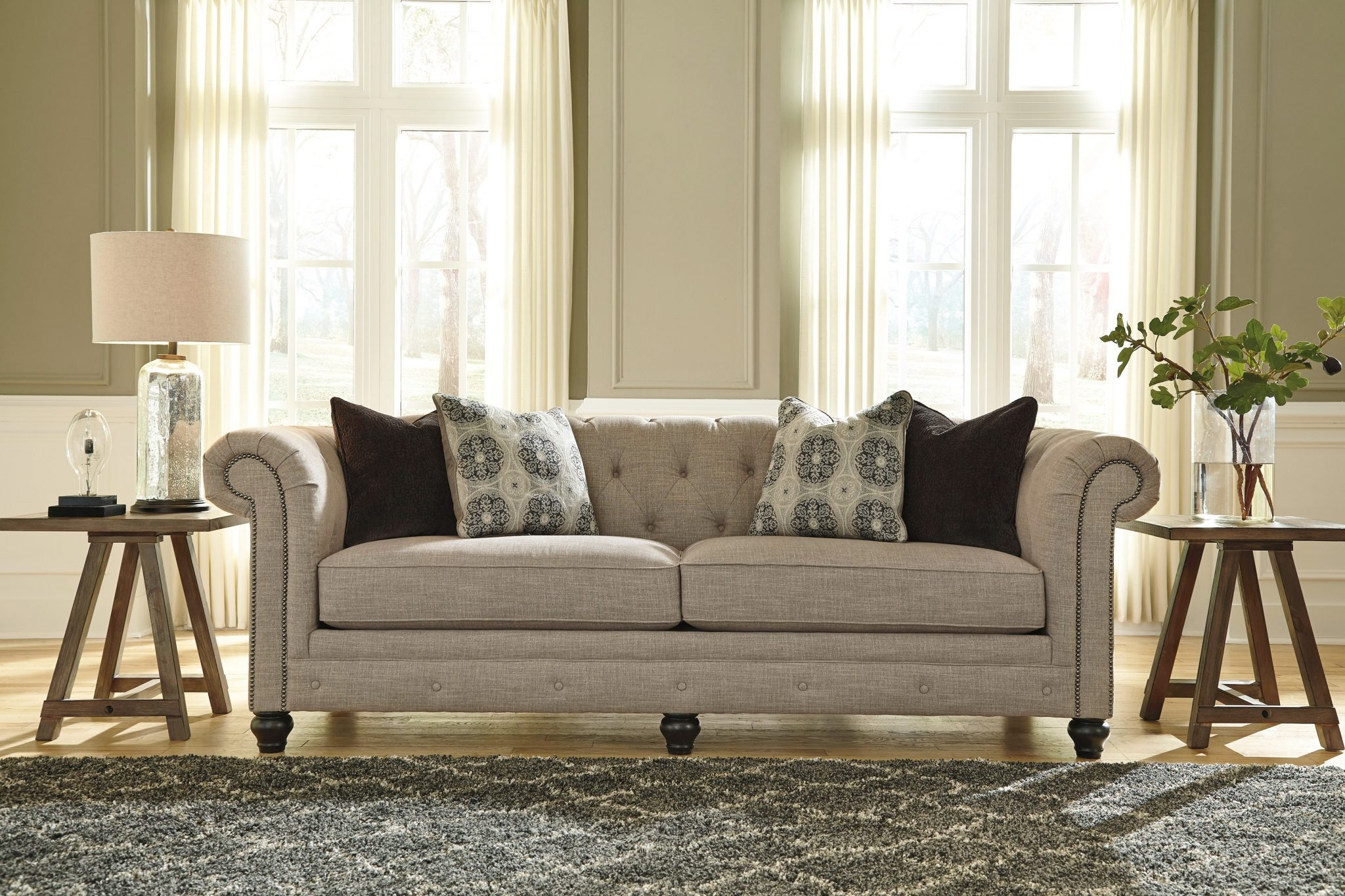 Popular Photo of Ashley Tufted Sofa