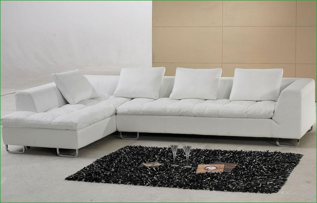 Black And White Leather Sectional Dobson Black Leather Modern Pertaining To Dobson Sectional Sofa (#3 of 12)