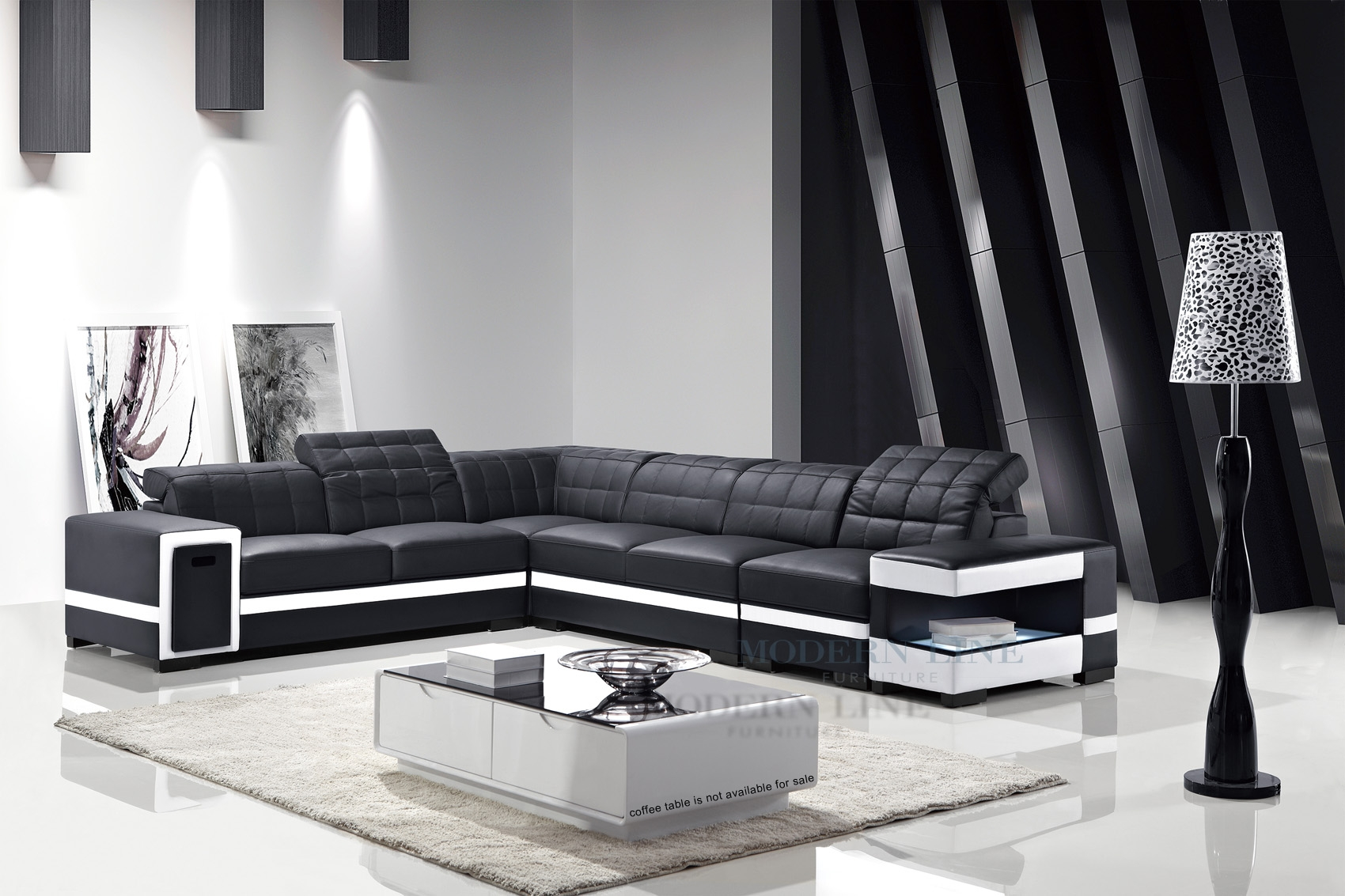 Black And White Sectional Sofas Cleanupflorida With Black And White Sectional Sofa (#5 of 12)