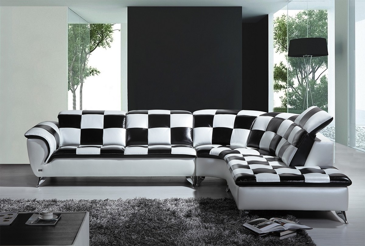 Black And White Sectional Sofas Cleanupflorida Within Black And White Sectional Sofa (#6 of 12)