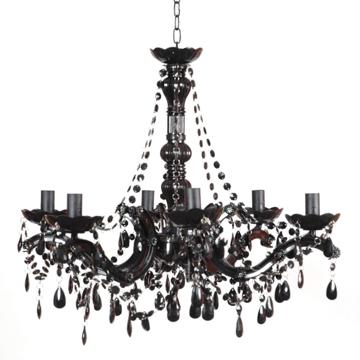 Black Chandeliers For And Chandelier Bedroom Modern Crystal Home For Antique Black Chandelier (#4 of 12)