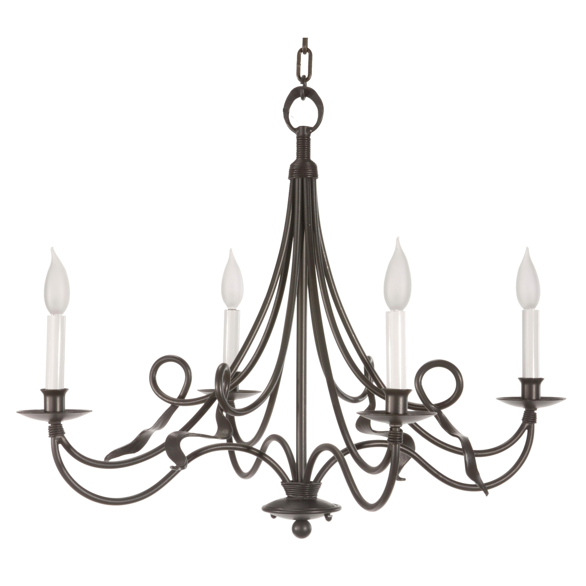 Black Color Rustic Cast Iron Chandeliers With Candle Holder For Intended For Large Iron Chandeliers (#2 of 12)