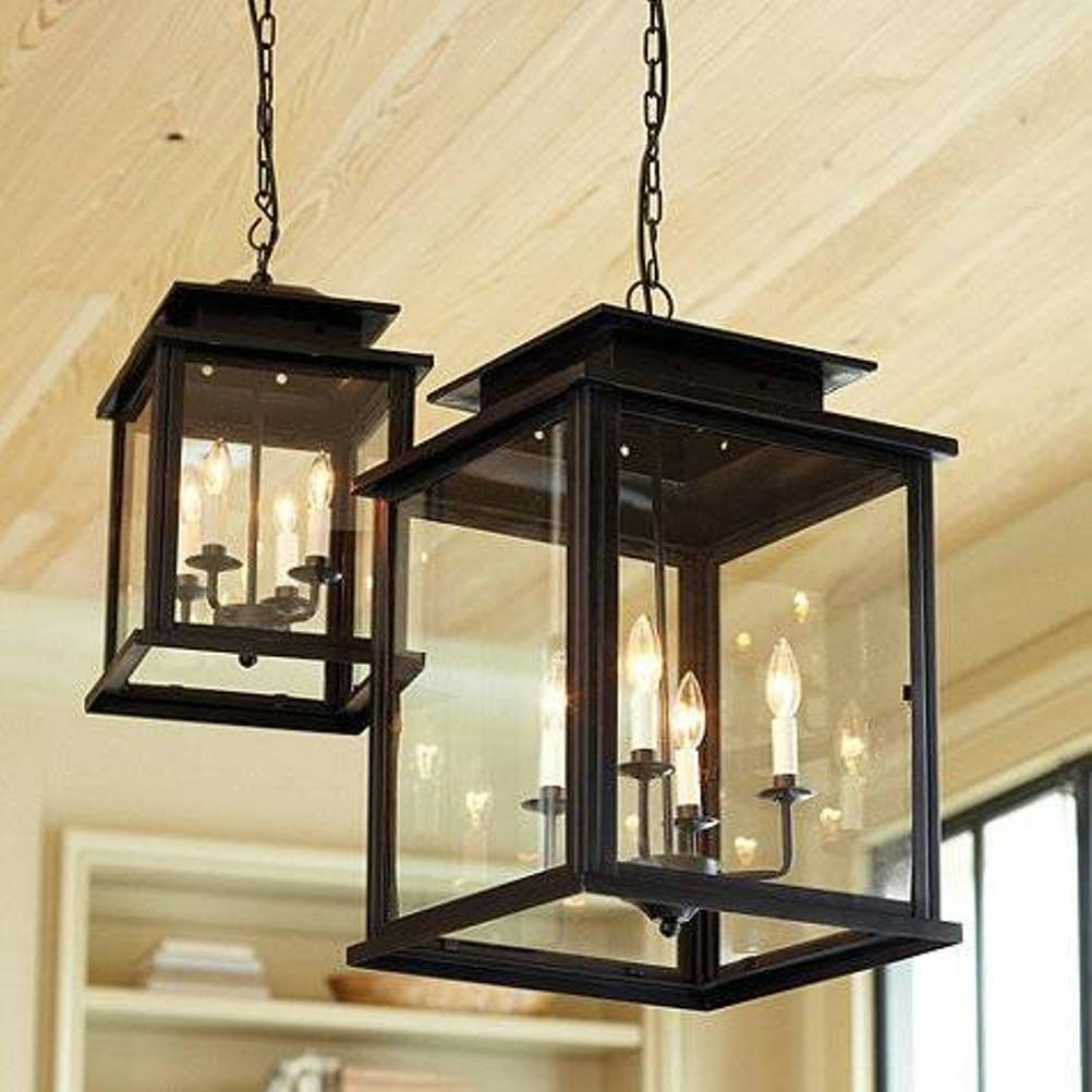 Black Lantern Pendant Light Lightupmyparty Inside Indoor Lantern Chandelier (#4 of 12)