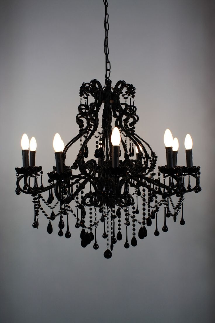 Black Modern Chandelier In Contemporary Black Chandelier (#5 of 12)