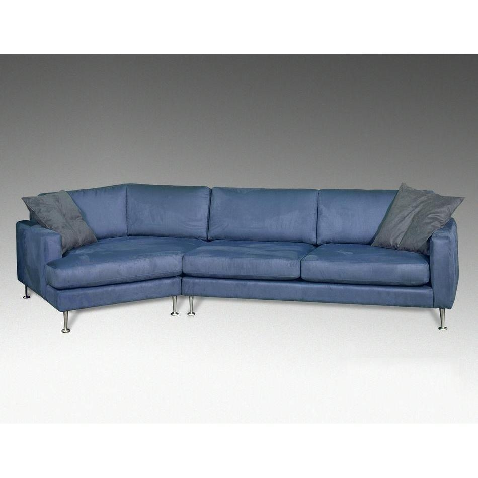Inspiration about Blue Leather Sectional Bold Modern Furniture For Angled Chaise Sofa (#4 of 12)