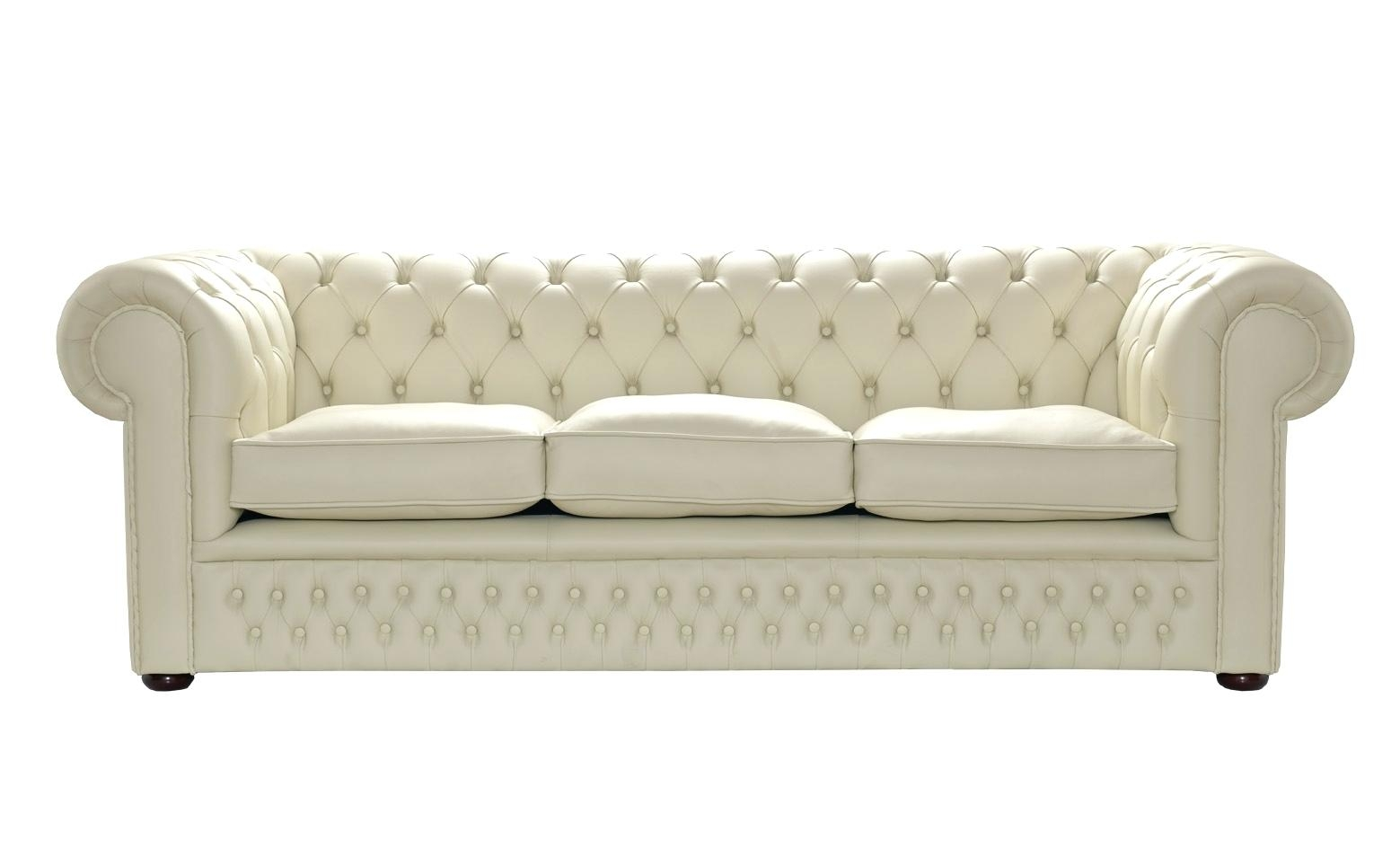 Bonded Leather Sofa Set Excellent Cream Couch Ivory Decorating Regarding Cream Colored Sofas (#2 of 12)