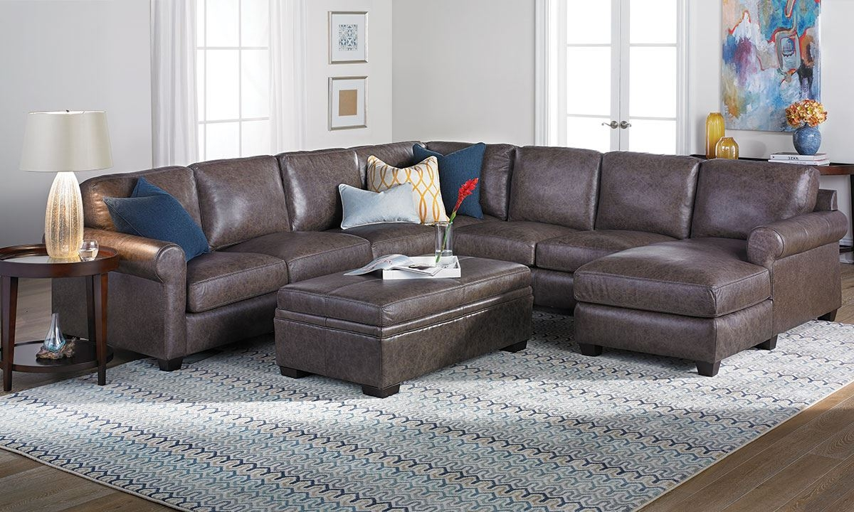 Bradley Top Grain Leather Feather Sectional Sofa The Dump With Regard To Bradley Sectional Sofa (#8 of 12)