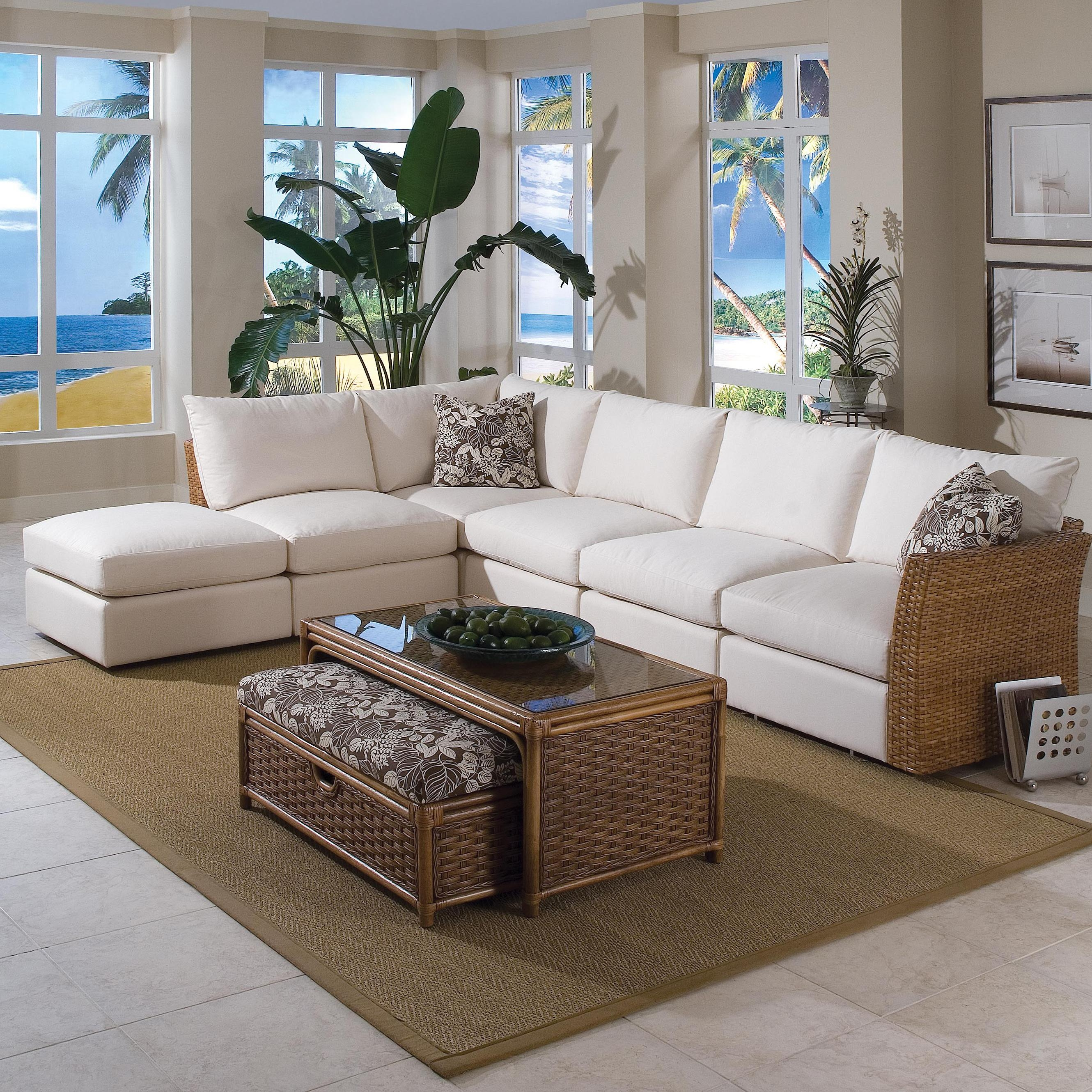 Braxton Culler Grand Water Point Tropical Sectional Sofa With Two With Regard To Braxton Sectional Sofa (#1 of 12)