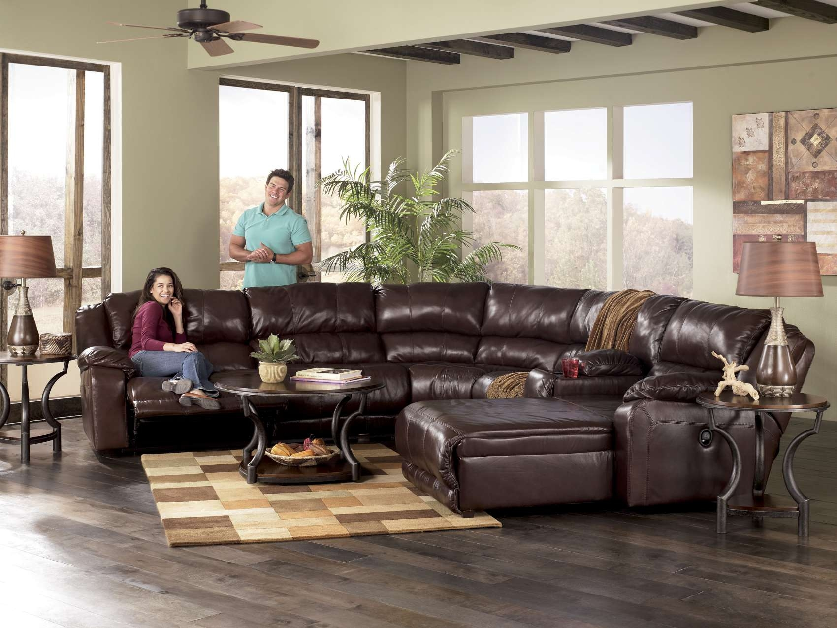 Braxton Java Reclining Sofa Collection97800 Regarding Braxton Sectional Sofa (#3 of 12)