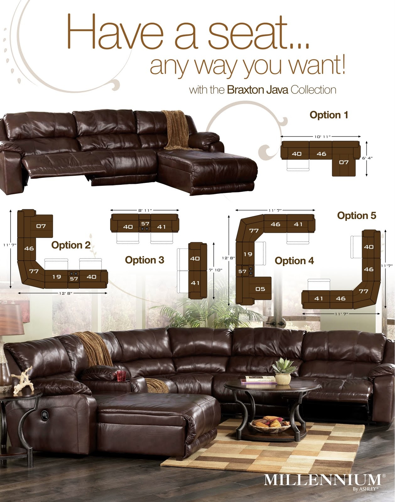 Braxton Java Sectional Review Ashley Furniture At Furniturecart In Braxton Sectional Sofa (#4 of 12)
