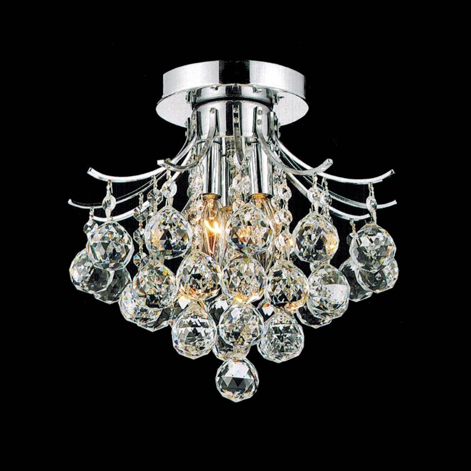 Popular Photo of Small Chrome Chandelier