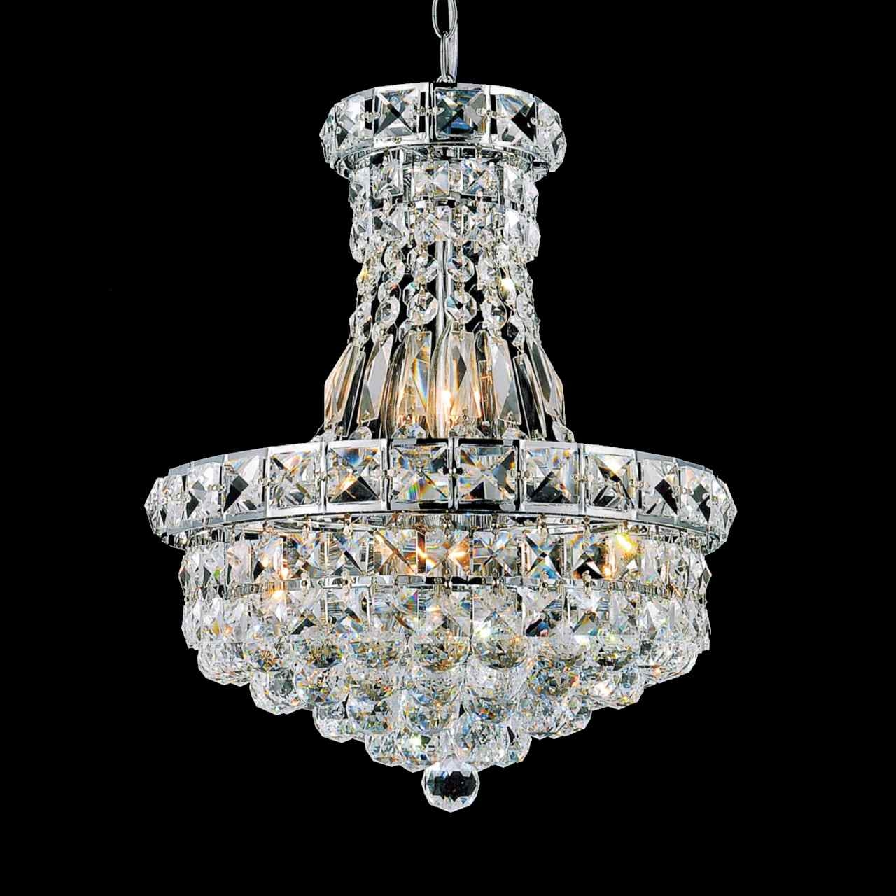 Brizzo Lighting Stores 12 Primo Transitional Crystal Small Round Inside Small Chrome Chandelier (#5 of 12)