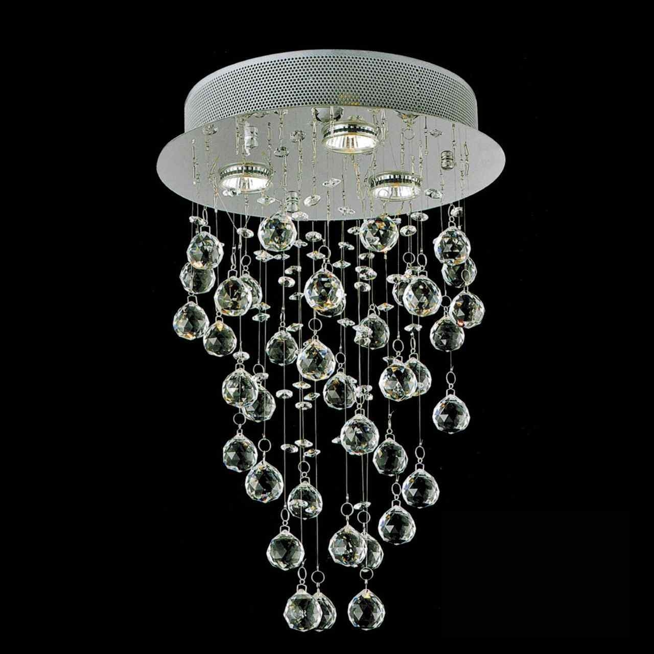 Brizzo Lighting Stores 18 Raindrops Modern Foyer Crystal Round In Mirror Chandelier (#4 of 12)