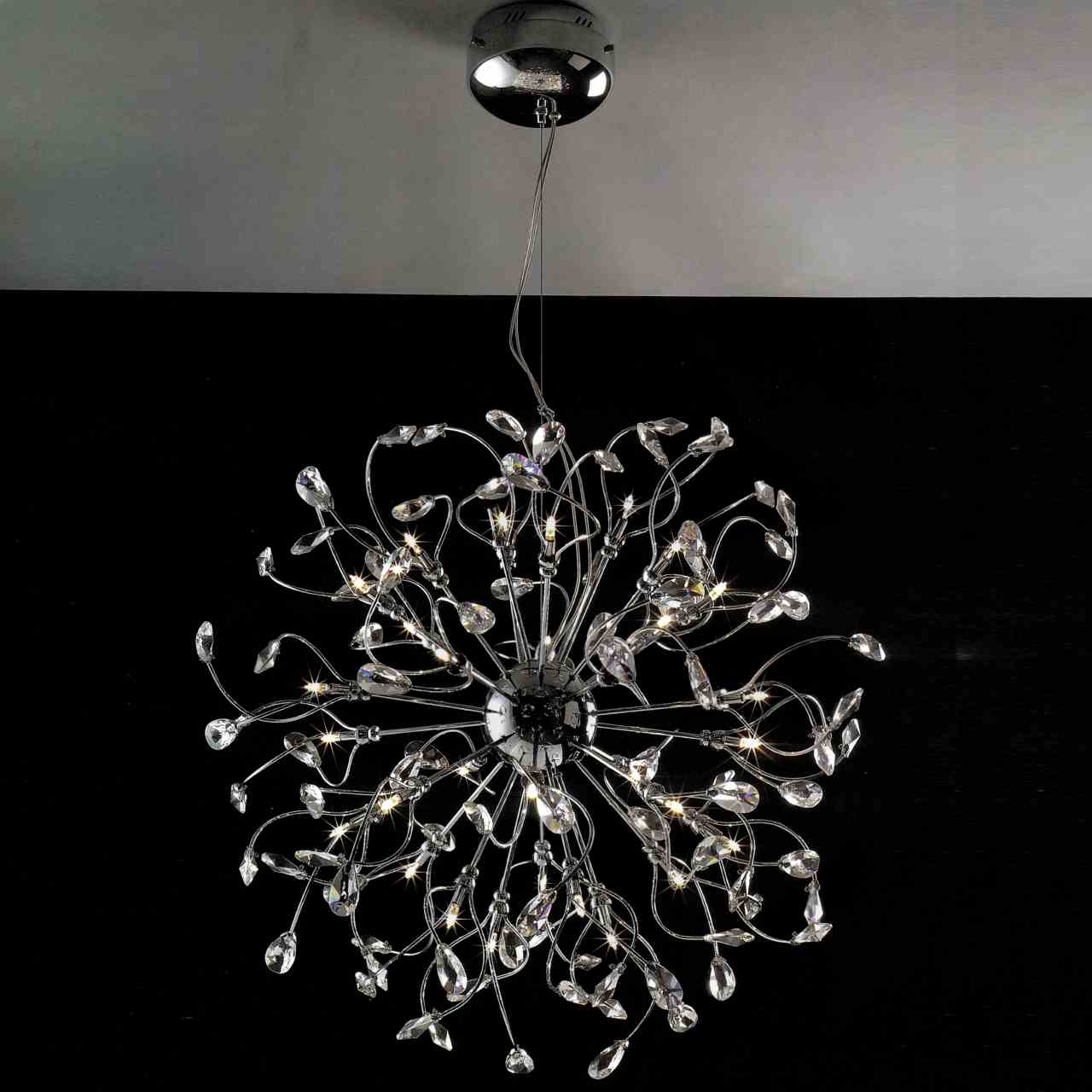 Brizzo Lighting Stores 22 Tempesta Modern Crystal Wall Sconce Pertaining To Modern Chrome Chandeliers (#5 of 12)