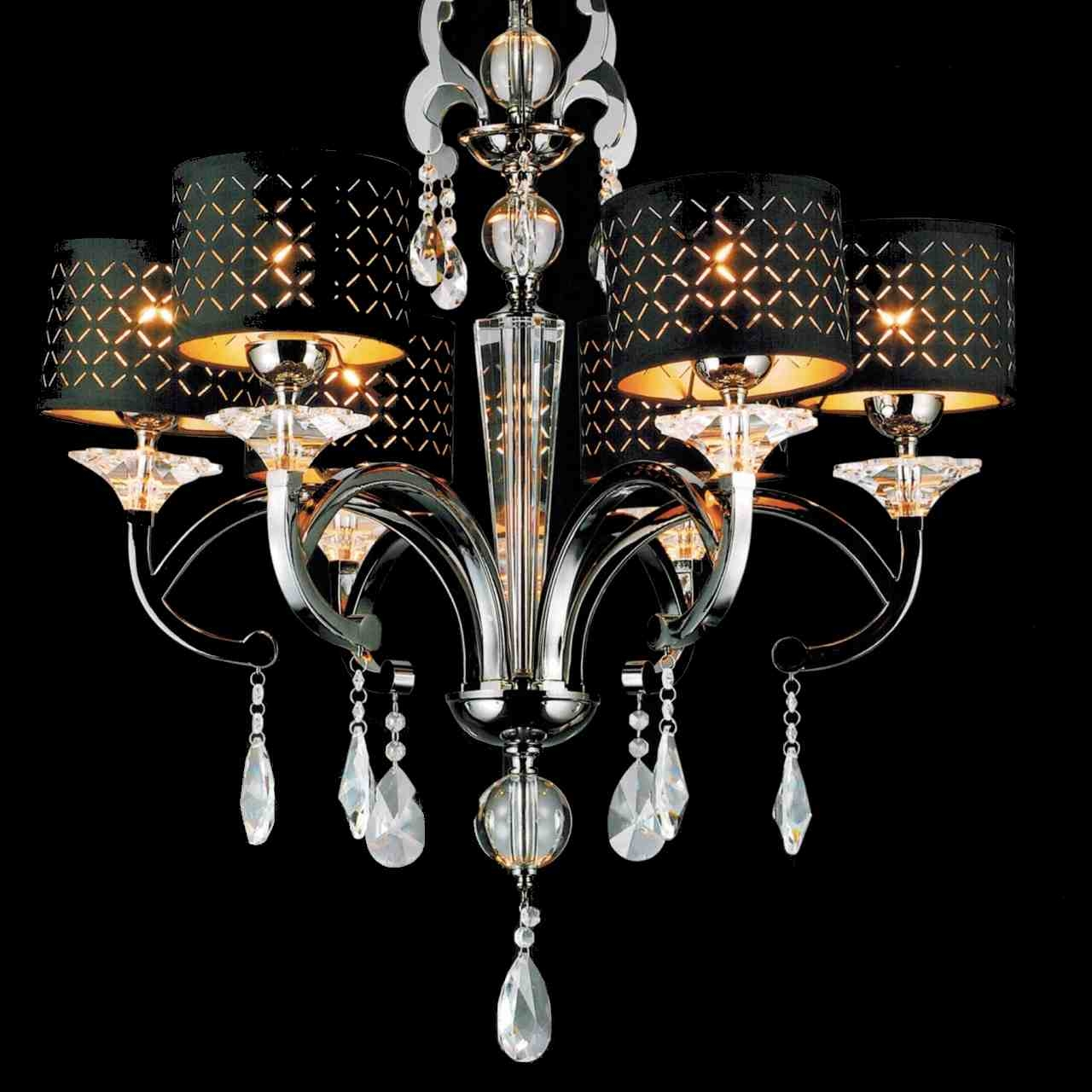 Brizzo Lighting Stores 29 Bello Nero Contemporary Crystal Round With Regard To Contemporary Black Chandelier (#6 of 12)