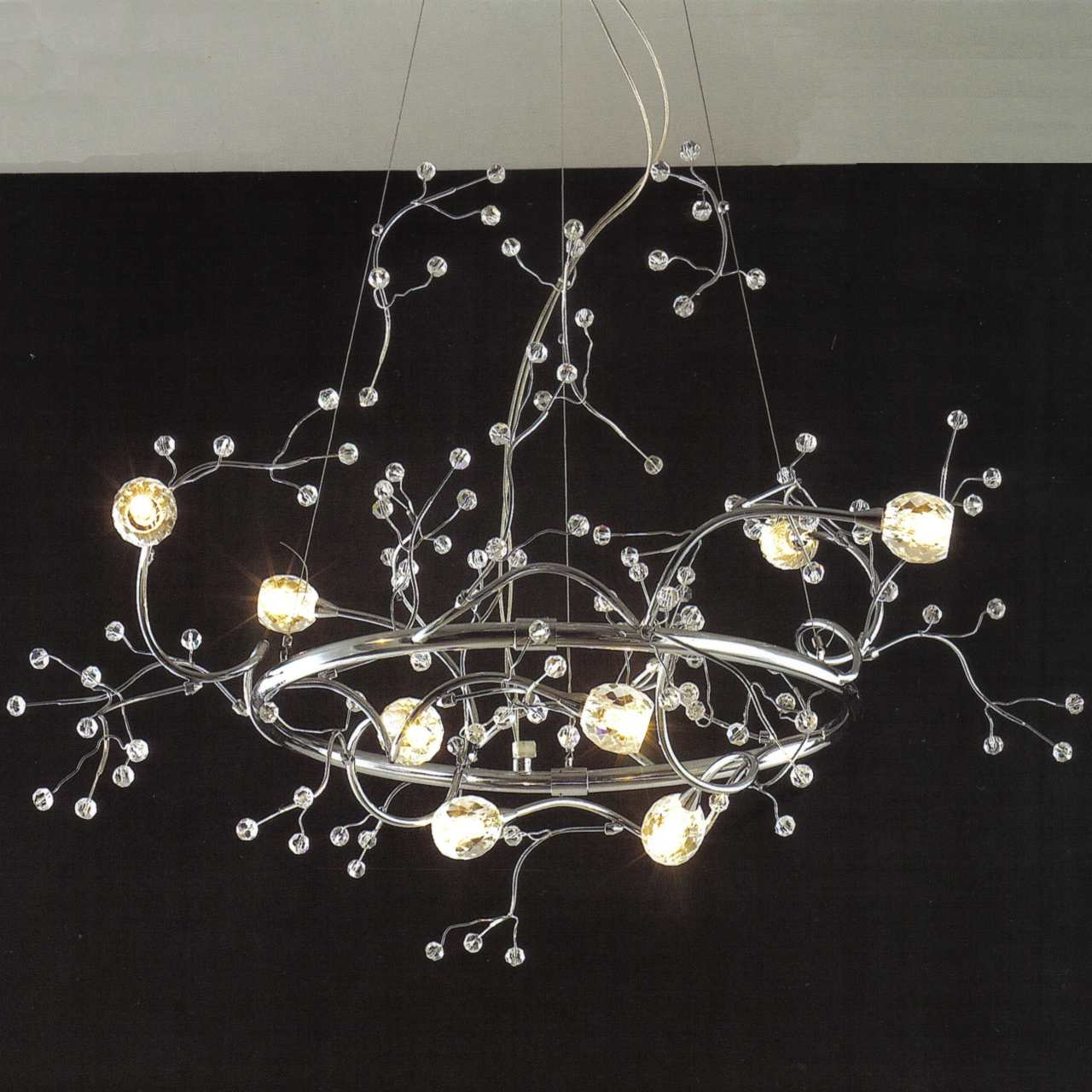 Brizzo Lighting Stores 32 Anelli Modern Crystal Round: 12 Photo Of Crystal Branch Chandelier