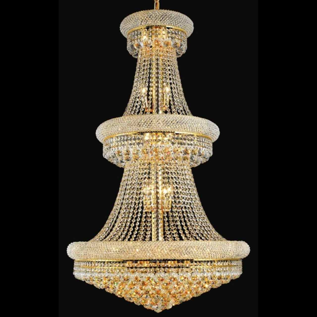 Brizzo Lighting Stores 50 Empire Crystal Large Foyer Round 3 Intended For 3 Tier Crystal Chandelier (#3 of 12)
