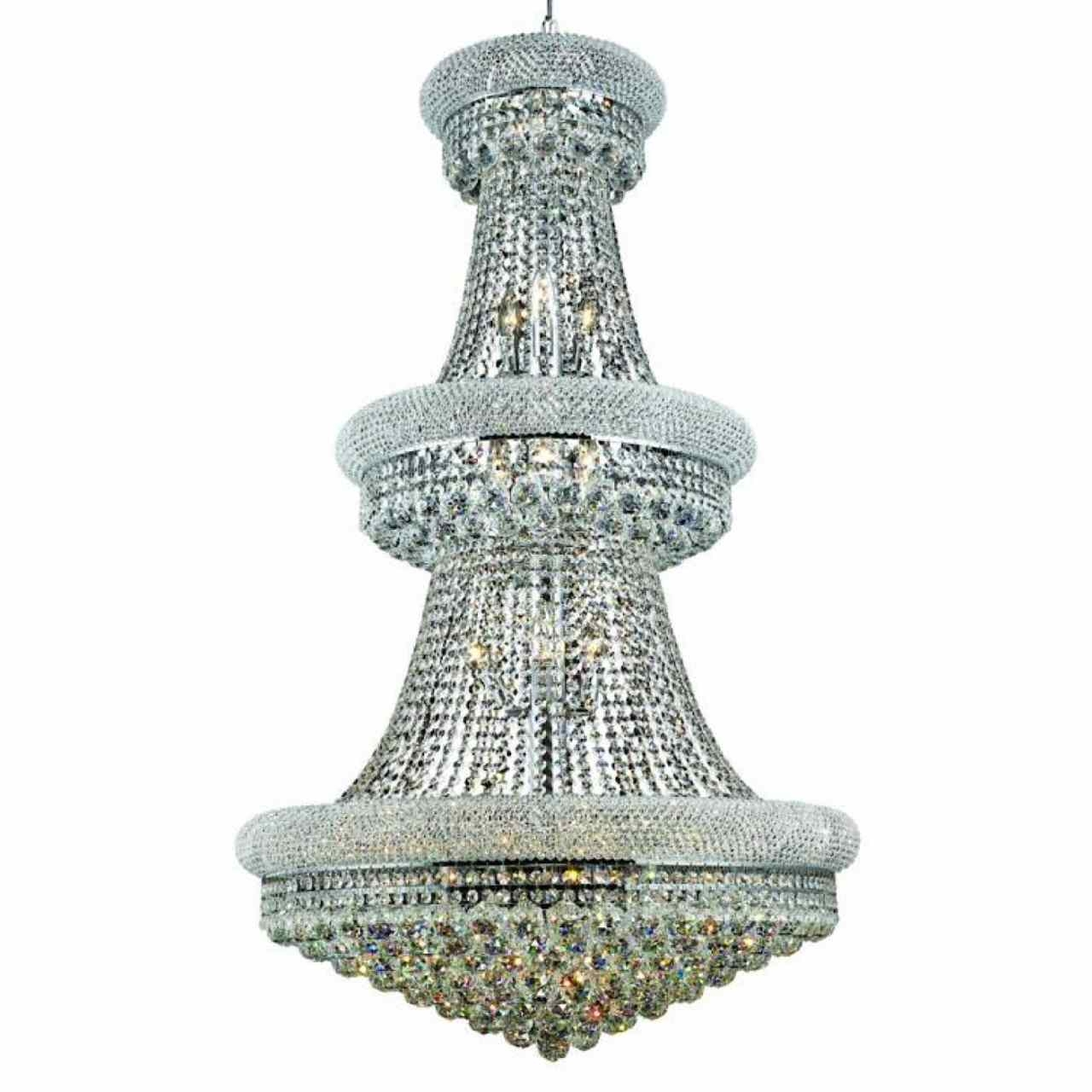 Brizzo Lighting Stores 50 Empire Crystal Large Foyer Round 3 Throughout 3 Tier Crystal Chandelier (#4 of 12)