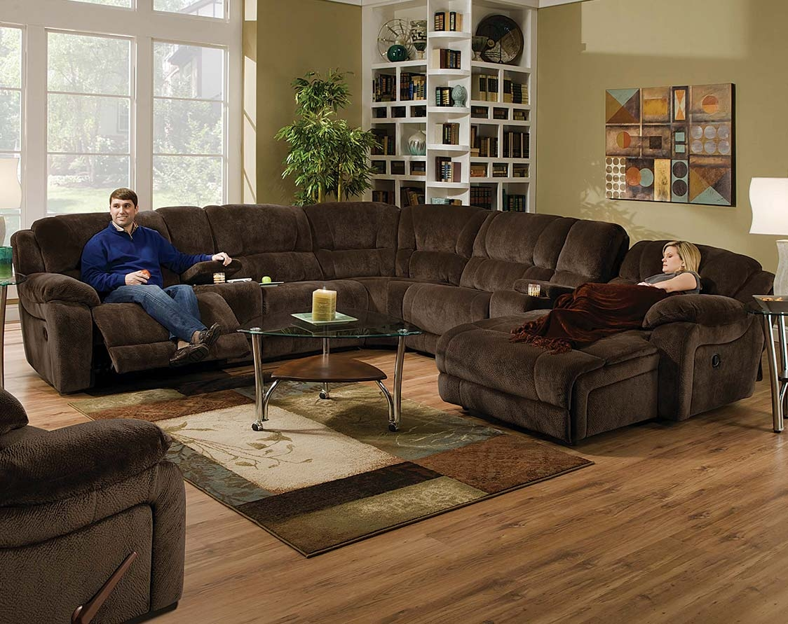 Brown Wrap Around Couch Championship Chocolate Reclining With Champion Sectional Sofa (#1 of 12)