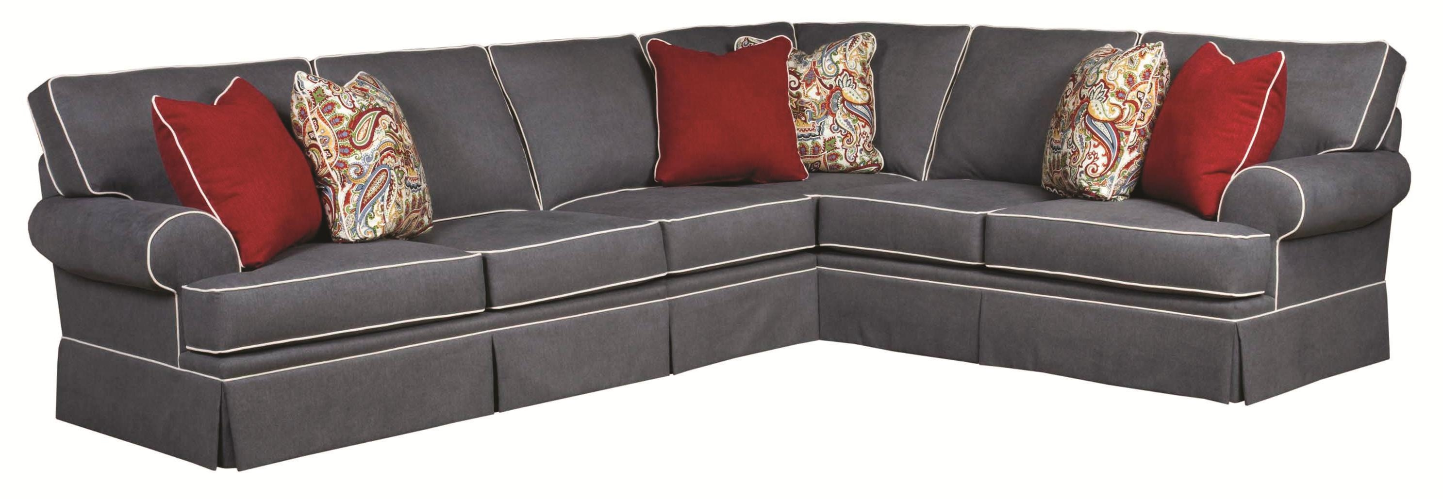 Broyhill Furniture Emily Traditional 3 Piece Sectional Sofa With With Regard To Broyhill Sectional Sofas (#1 of 12)