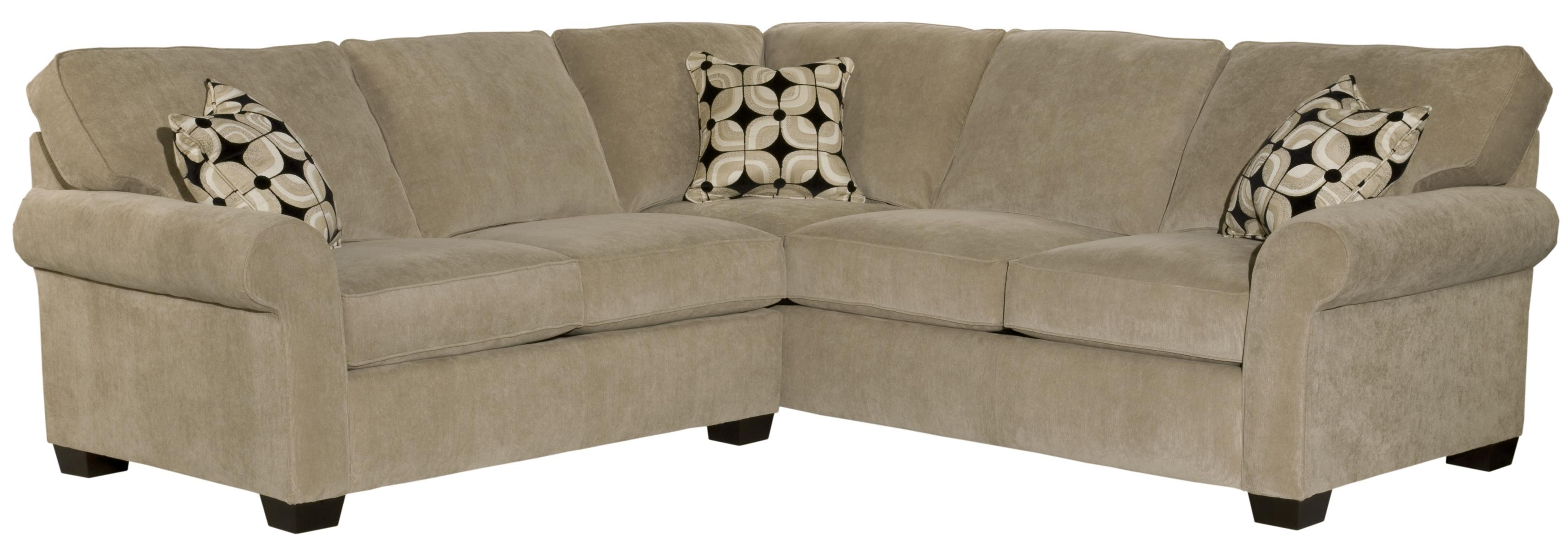 Broyhill Furniture Ethan Two Piece Sectional With Corner Sofa With Broyhill Sectional Sofas (#2 of 12)