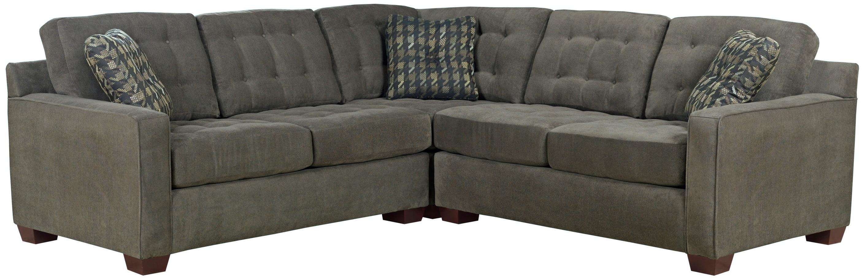 Broyhill Furniture Tribeca Contemporary L Shaped Sectional Sofa Inside Broyhill Sectional Sofas (#5 of 12)