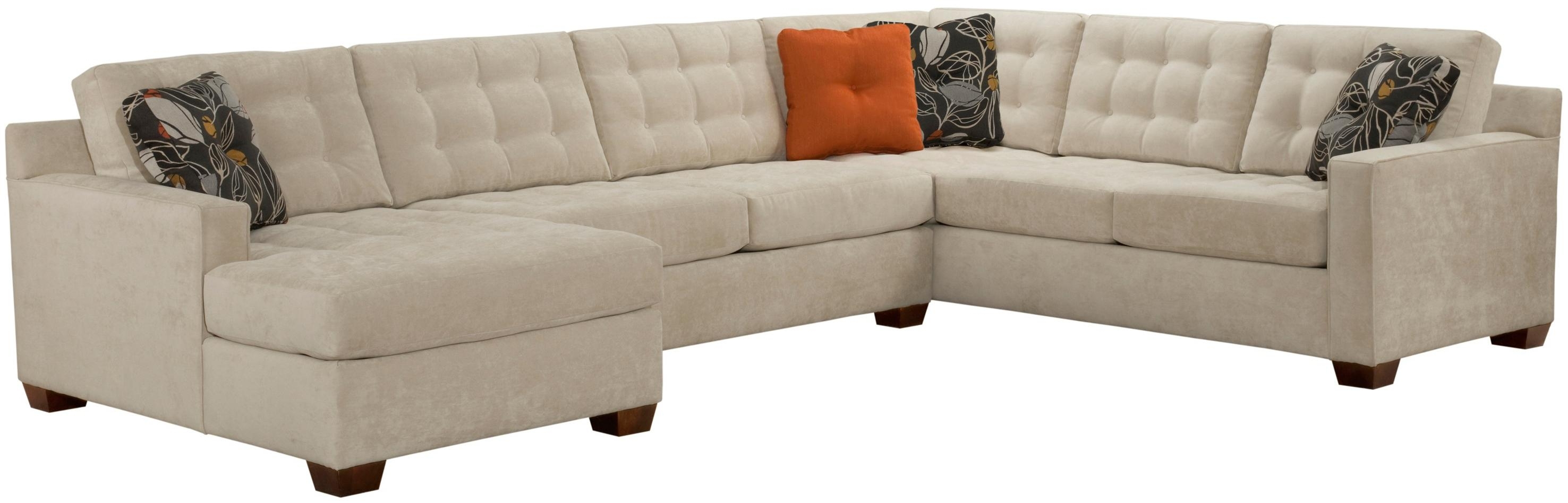 Broyhill Furniture Tribeca Contemporary Sectional Sofa With Left For Broyhill Sectional Sofas (#6 of 12)