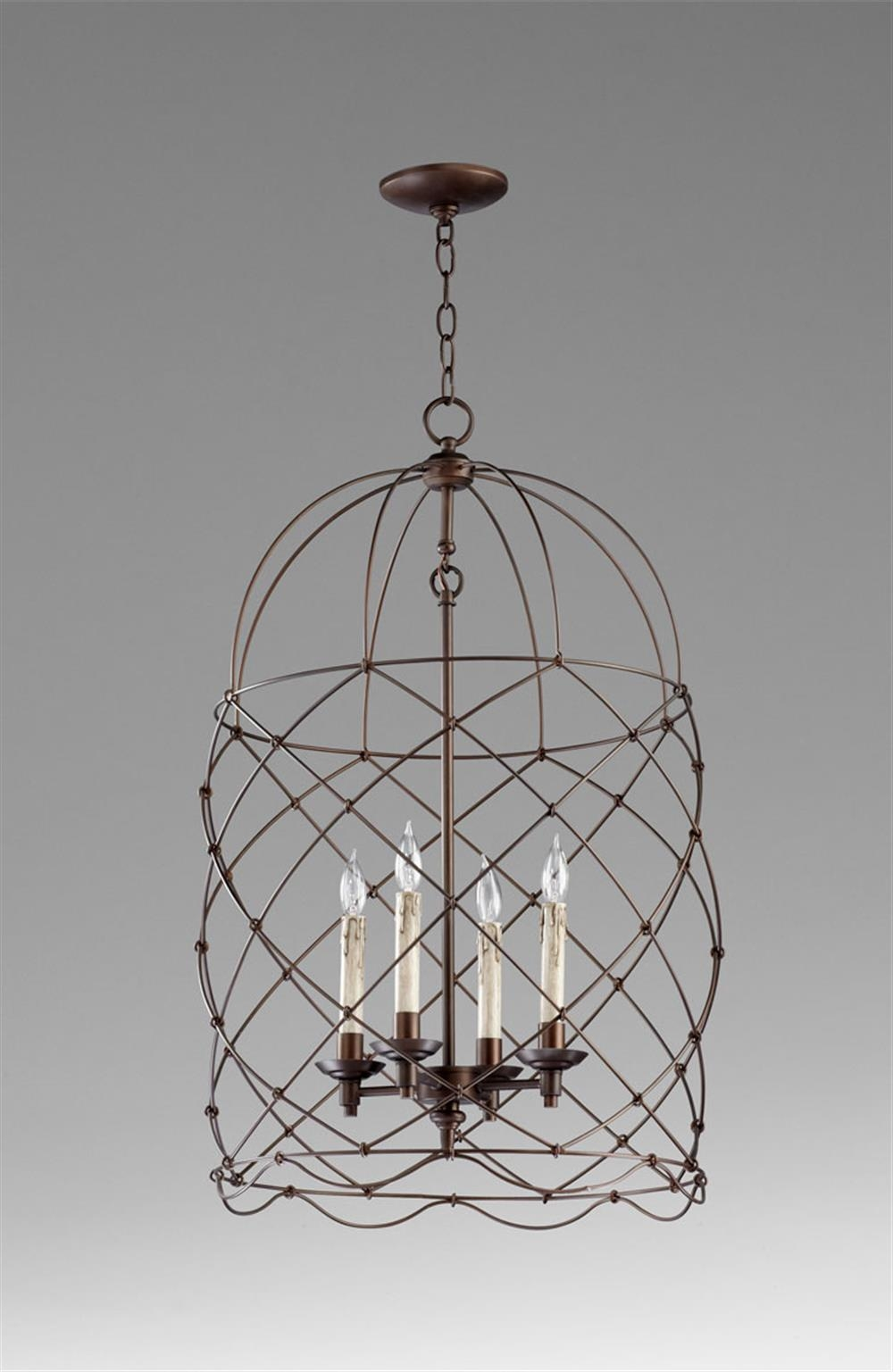 Popular Photo of Caged Chandelier