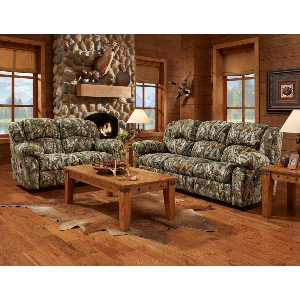 Cambridge Camo Double Reclining Loveseat Reviews Wayfair In Camo Sofa Cover (#1 of 12)