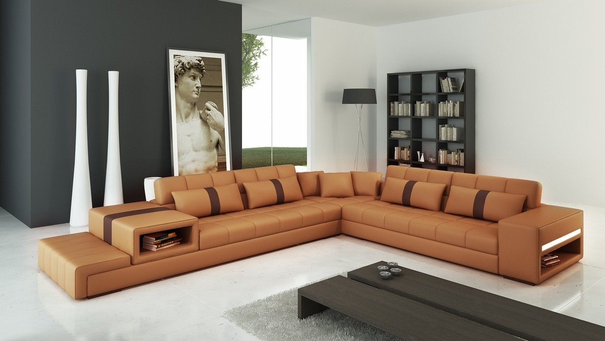 Popular Photo of Camel Sectional Sofa