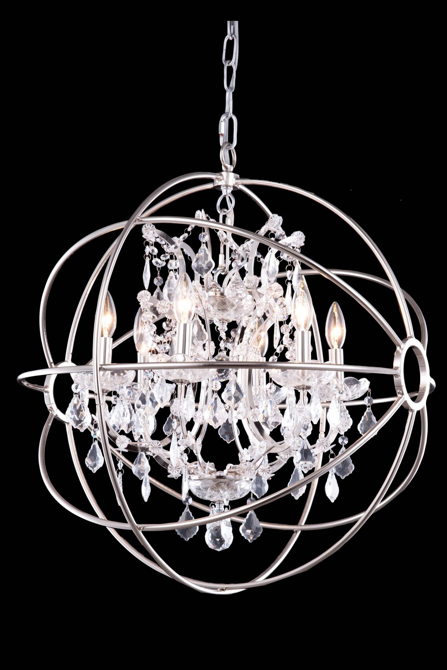 Chandelier Amazing Crystal Globe Chandelier Large Crystal With Regard To Globe Crystal Chandelier (#3 of 12)