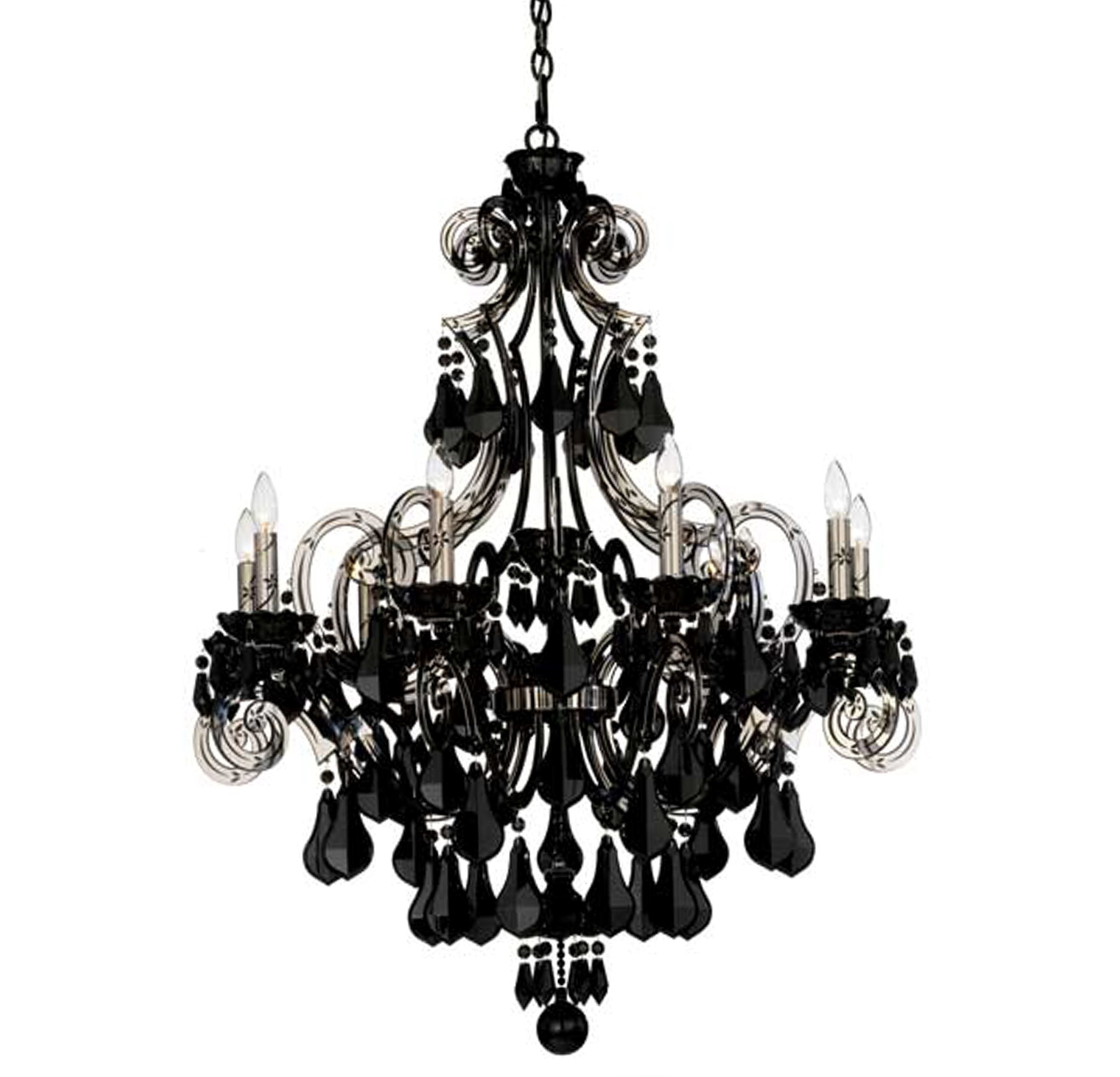Chandelier Astounding Black Glass Chandelier Glass Ball With Black Glass Chandeliers (#7 of 12)