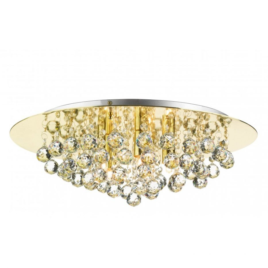 Chandelier Ceiling Lighting Crystal Lights Flush Mount Chandelier With Low Ceiling Chandelier (#4 of 12)