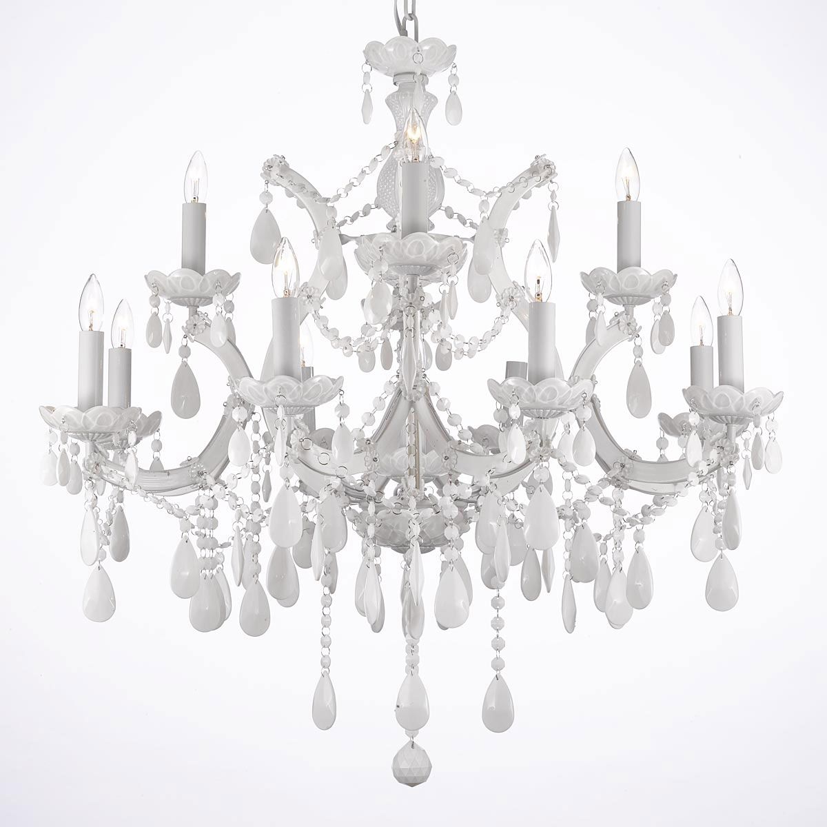 Chandelier Chandeliers Crystal Chandelier Crystal Chandeliers Throughout White Chandeliers (#4 of 12)