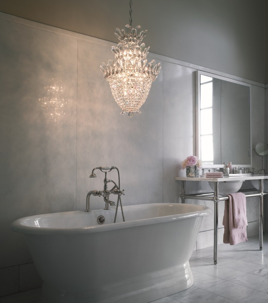 Chandelier For Bathroom Home Design Ideas With Regard To Chandelier In The Bathroom (#11 of 12)