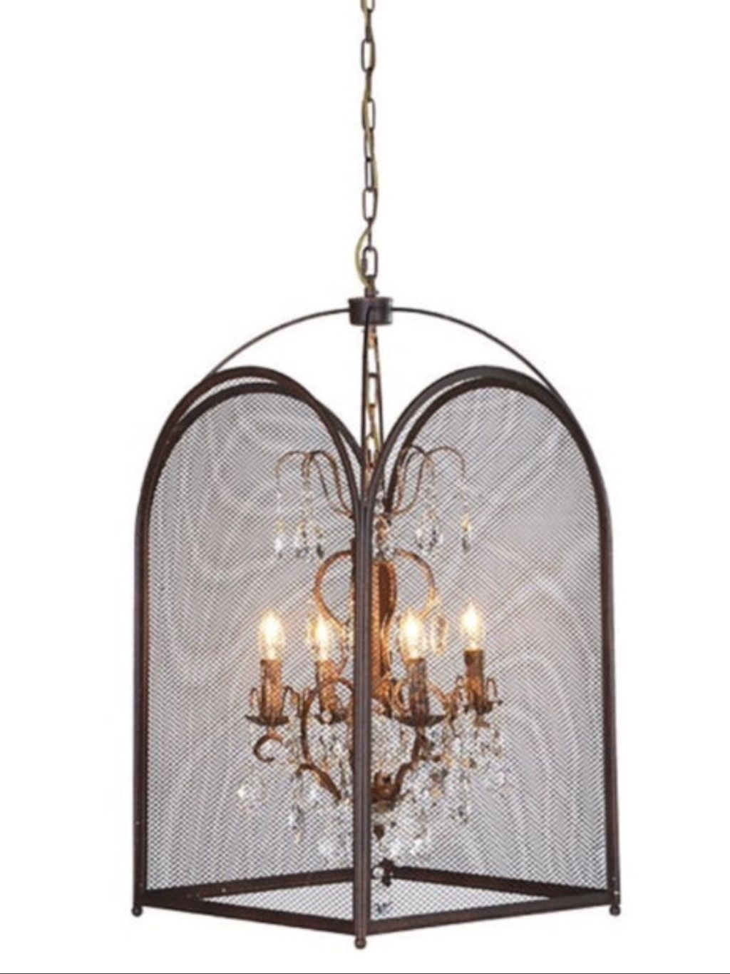 Chandelier Glamorous Caged Chandelier Trellis Cage Chandelier Pertaining To Caged Chandelier (#7 of 12)