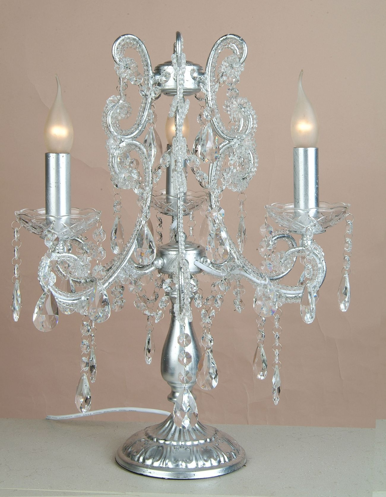 Chandelier Table Lamps Uk Roselawnlutheran Regarding Table Chandeliers (#9 of 12)