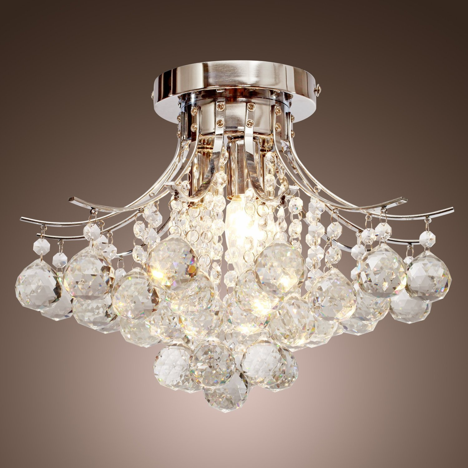 Chandeliers Amazon Lighting Ceiling Fans Ceiling Lights Regarding Small Chrome Chandelier (#6 of 12)