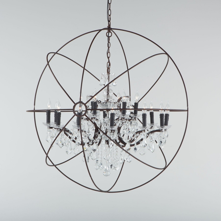 Chandeliers Fixtures High End Direct In Globe Crystal Chandelier (#6 of 12)