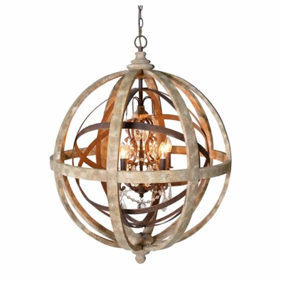Chandeliers Glamorous Sphere Chandelier Wooden Orb Chandelier For Sphere Chandelier (#6 of 12)