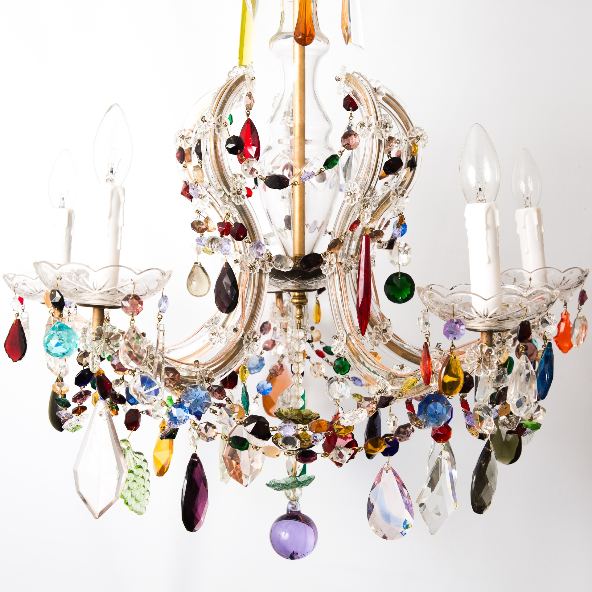 Popular Photo of Colourful Chandeliers